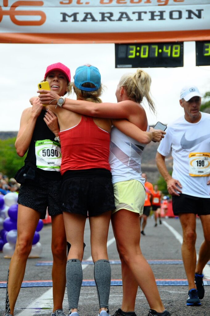 She's On A Run St George Marathon Group Finish